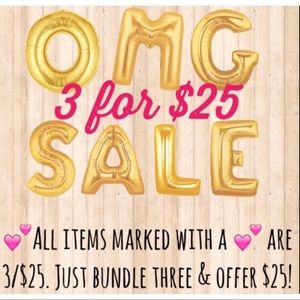 Sale sale 3for $25 only items with 💕